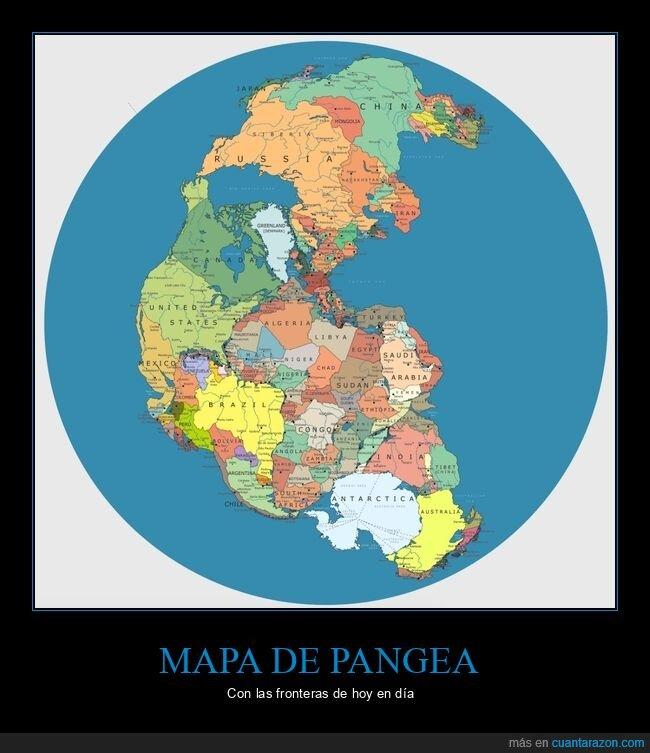 fronteras,mapa,pangea