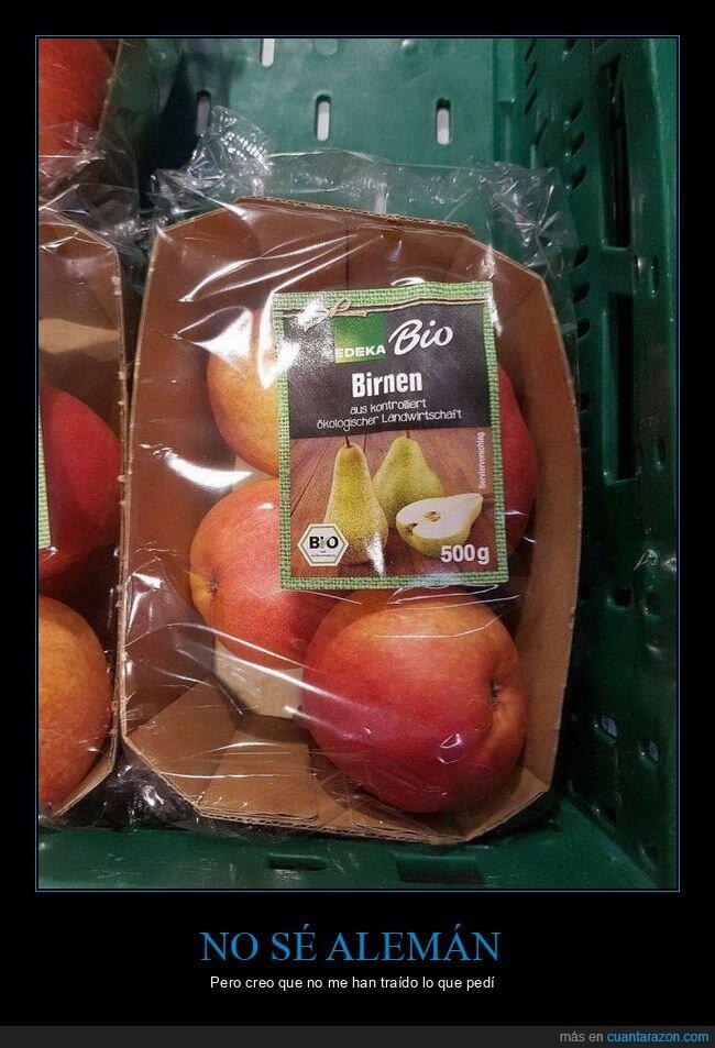fails,manzanas,peras