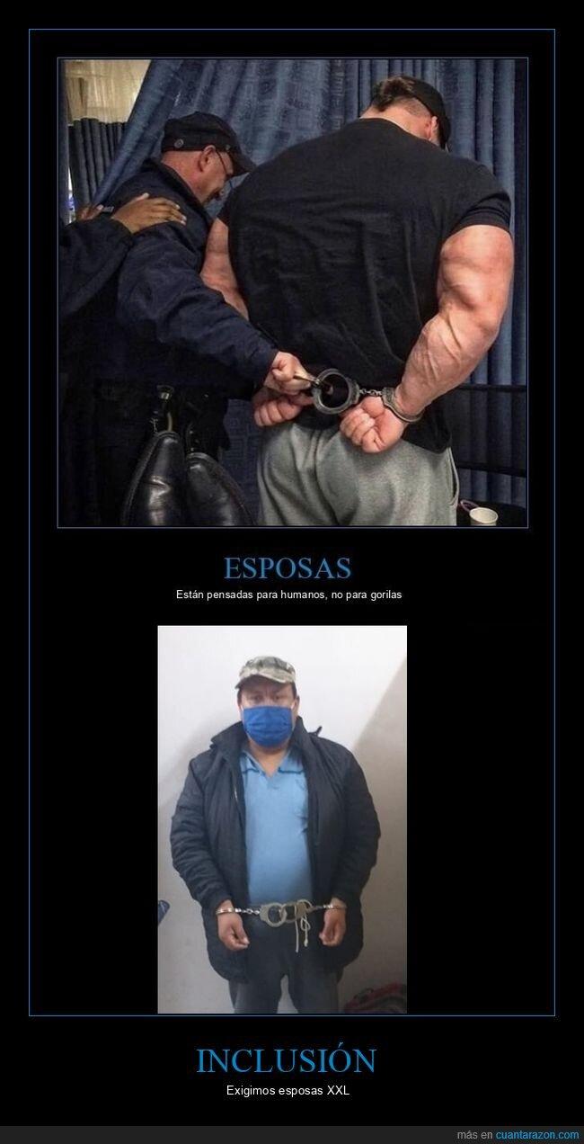 esposas,preso,talla