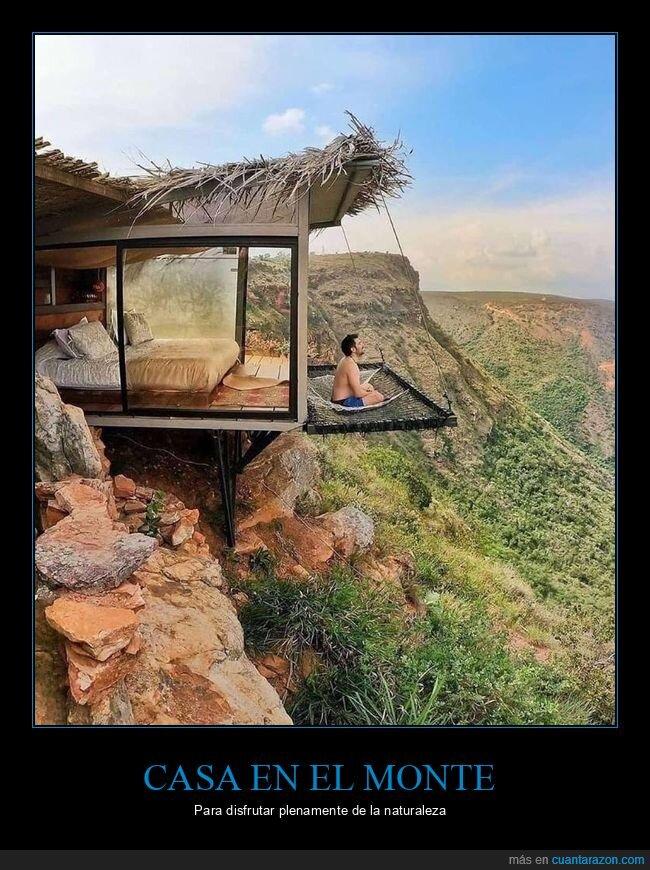 casa,monte,naturaleza