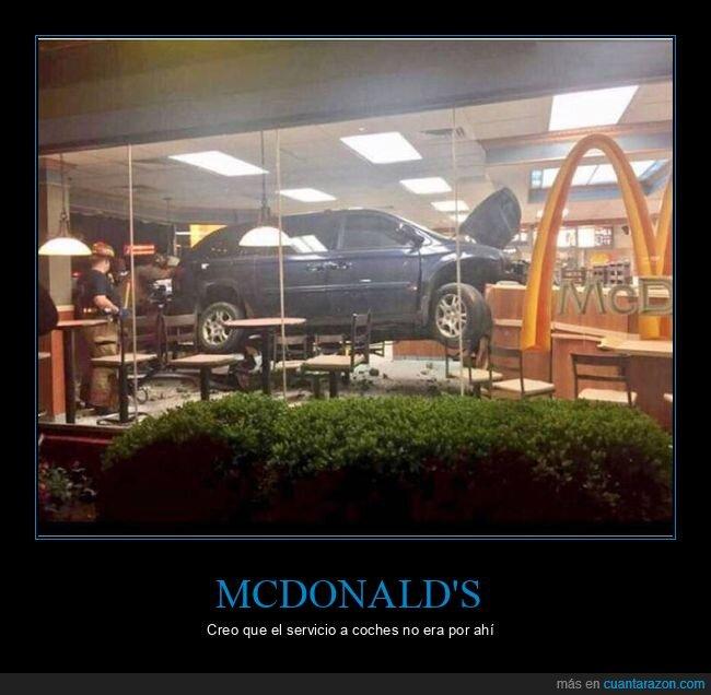 coche,fails,mcdonald's
