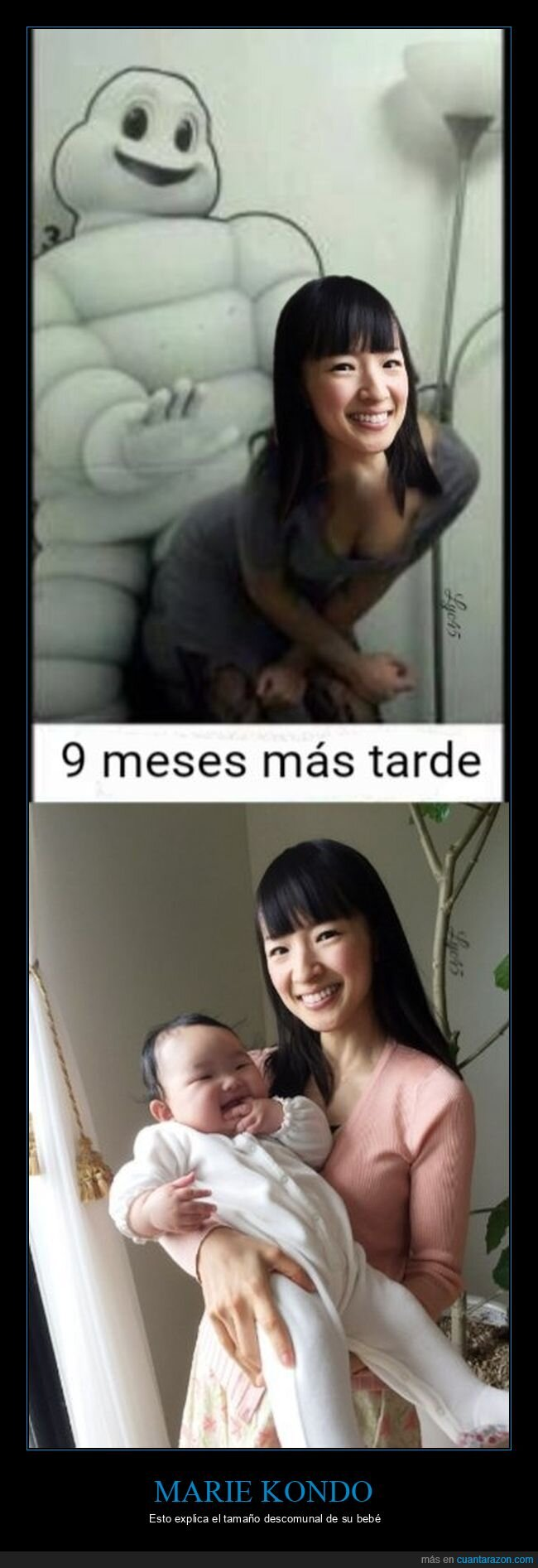 bebé,gigante,hijo,marie kondo,michelín
