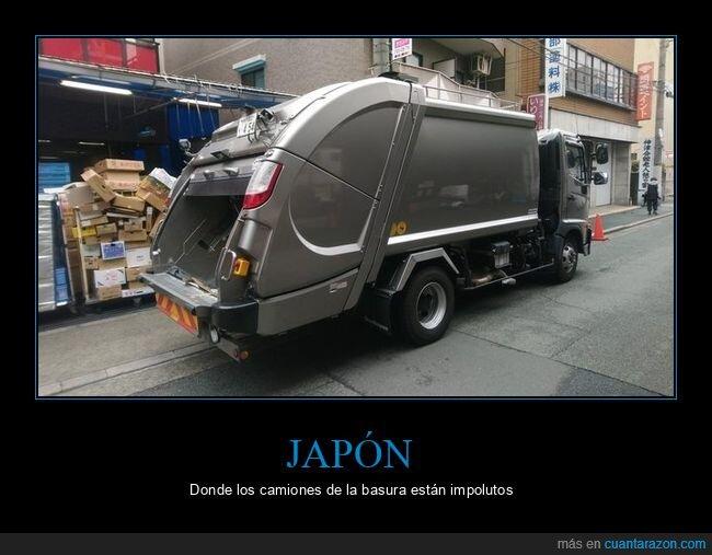 camión de basura,japón,limpio