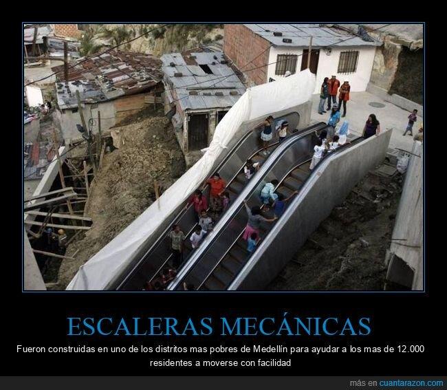 escaleras mecánicas,medellín