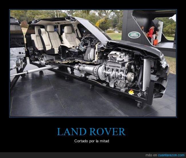 cortado,land rover,mitad