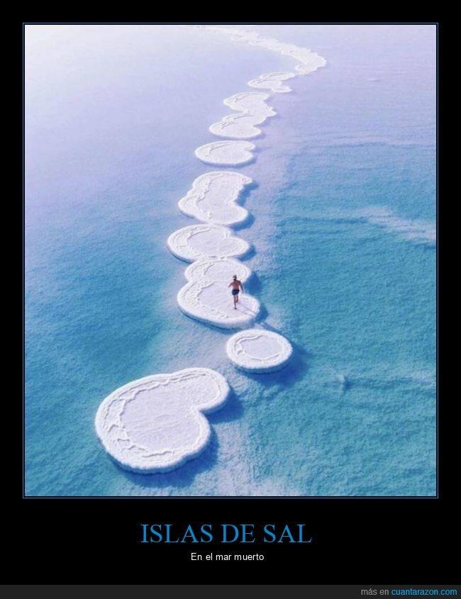 islas,mar muerto,sal