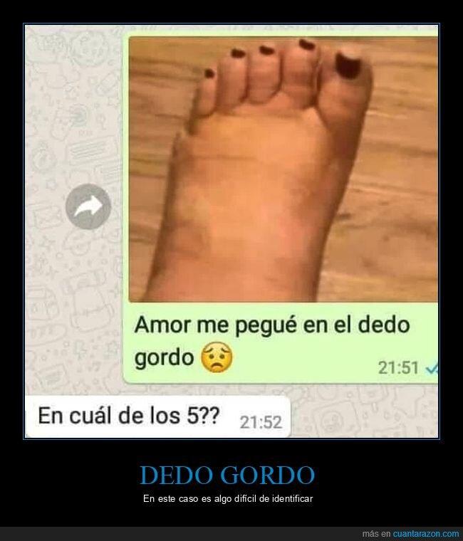 dedo,dedo gordo,pie,whatsapp