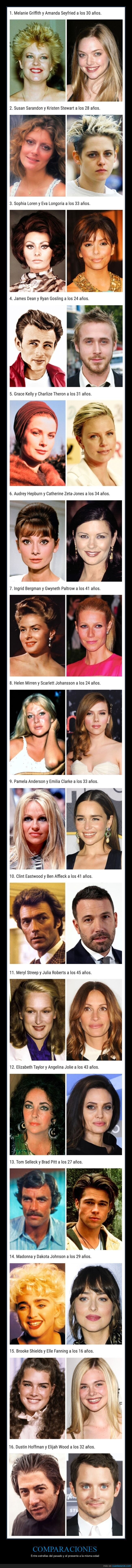 comparaciones,edad,famosos,pasado,presente