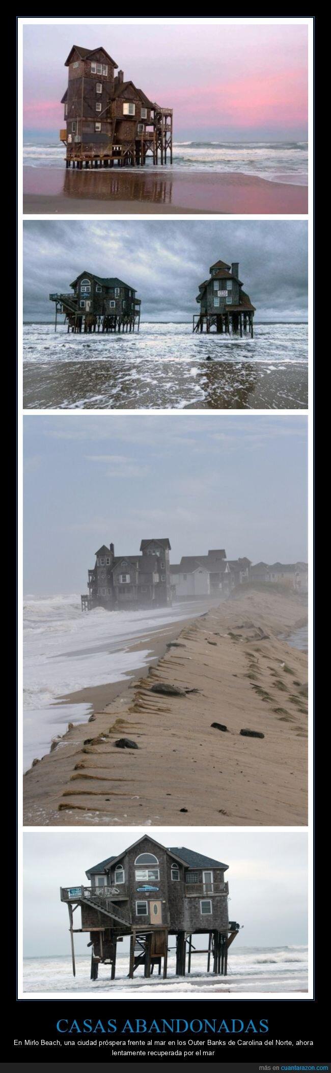 abandonadas,casas,mirlo beach,playa,wtf