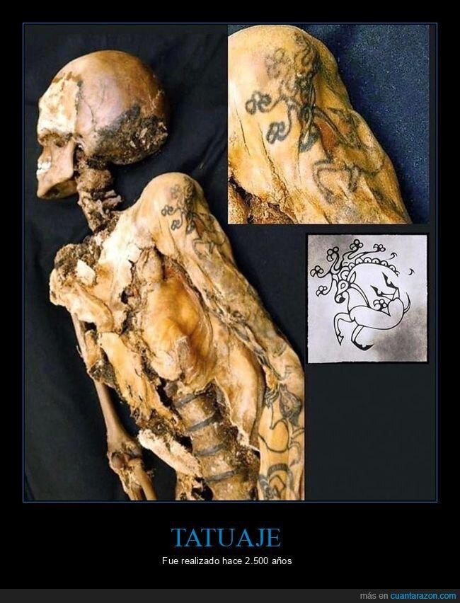 2500 años,momia,tatuaje