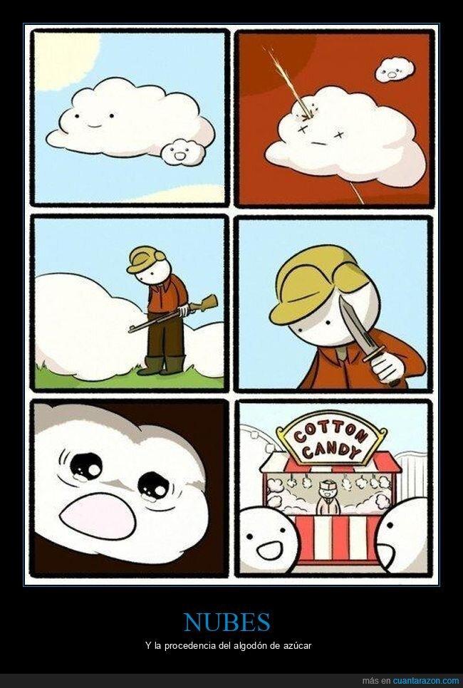 algodón de azúcar,nube