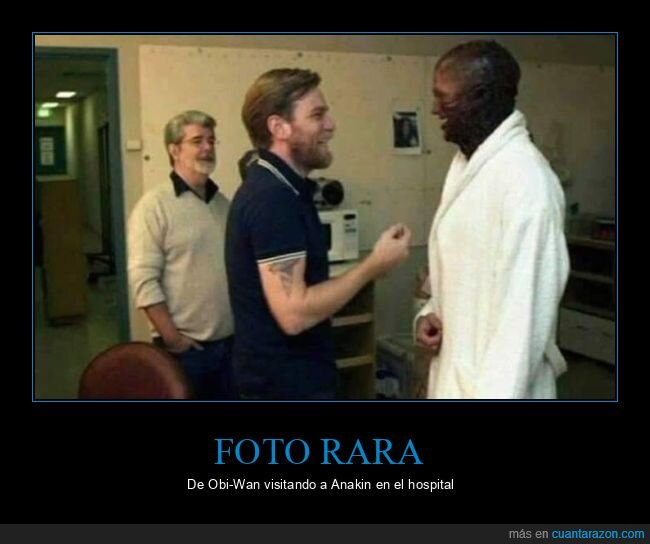anakin skywalker,hospital,obi wan kenobi,star wars,visitando