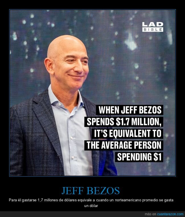 dinero,gastar,jeff bezos