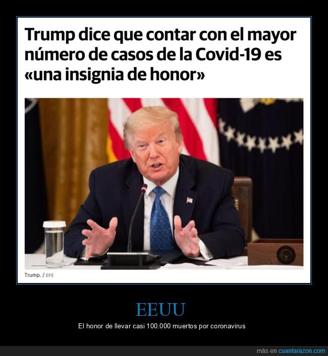 coronavirus,donald trump,honor,políticos