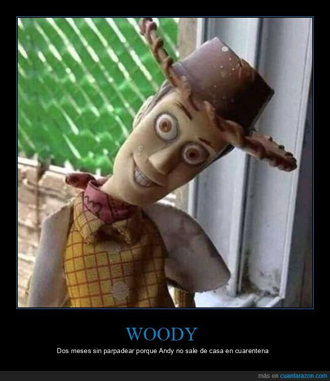 andy,coronavirus,cuarentena,parpadear,salir de casa,toy story,woody