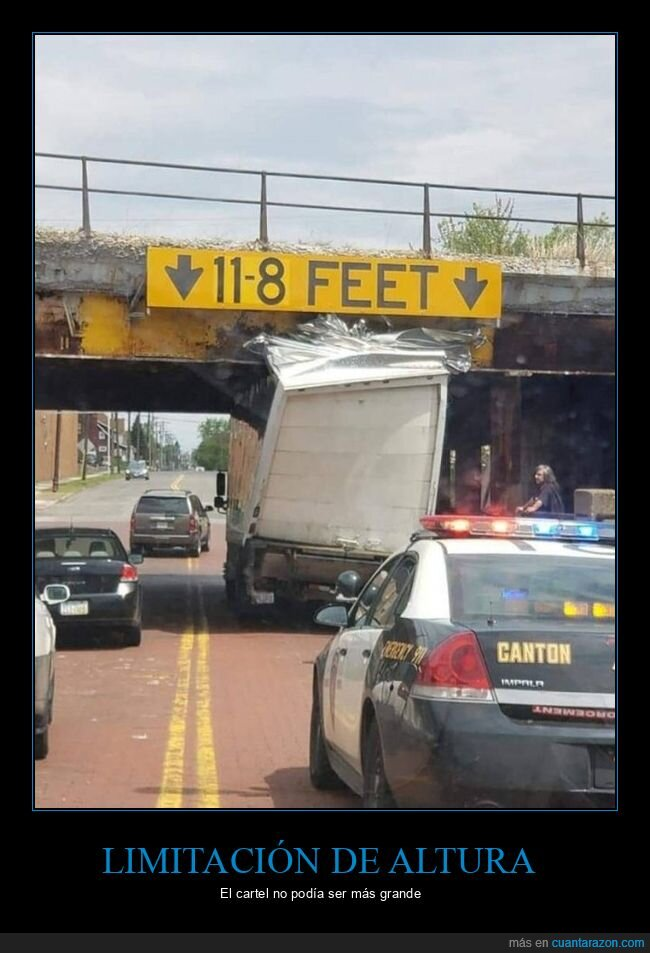 altura,camión,cartel,puente