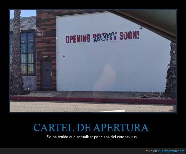 apertura,cartel,coronavirus