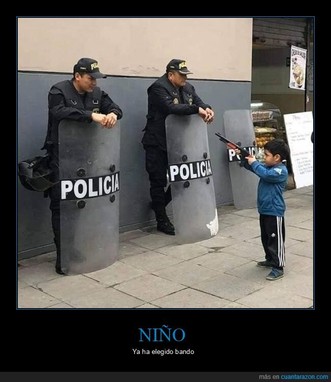 escopeta,niño,policía
