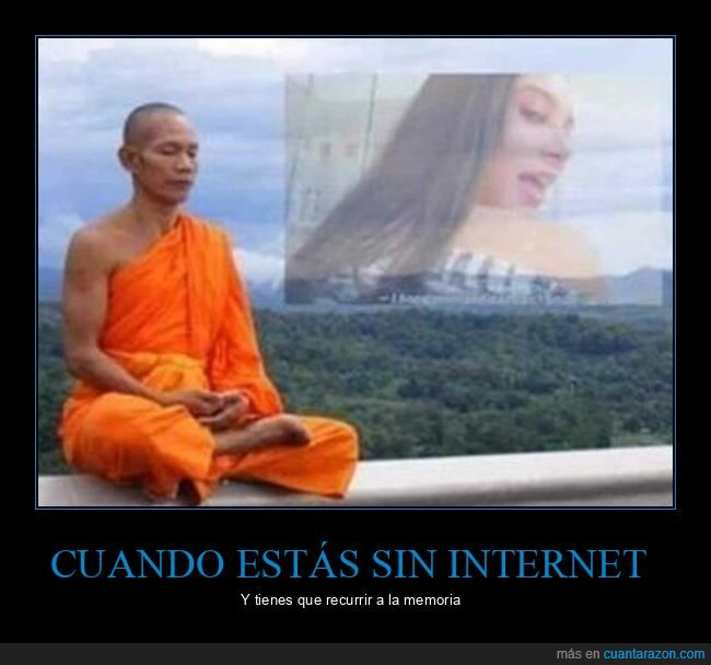 budista,memoria,monje,sin internet