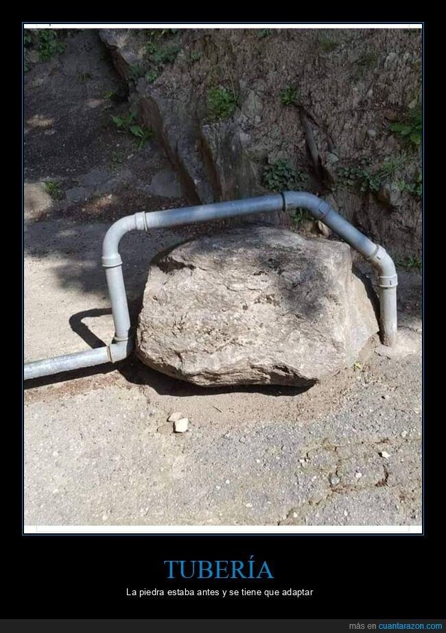 piedra,tubería,wtf