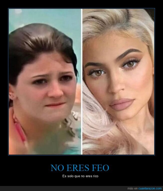 ahora,antes,kylie jenner