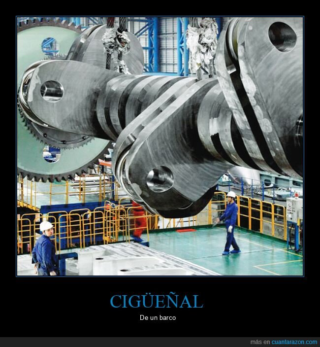 barco,cigüeñal,gigante,motor,tamaño