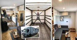 Enlace a Convirtieron un viejo camión abandonado en su nuevo hogar