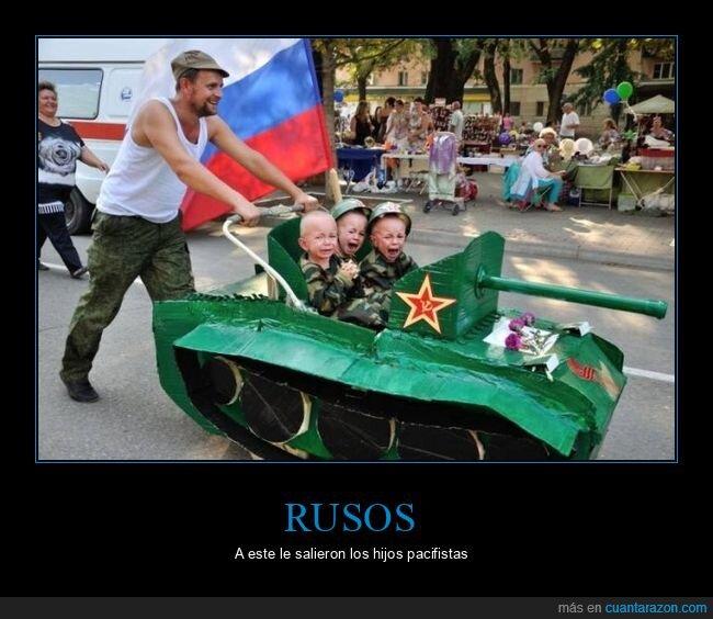 carrito,niños,rusos,tanque