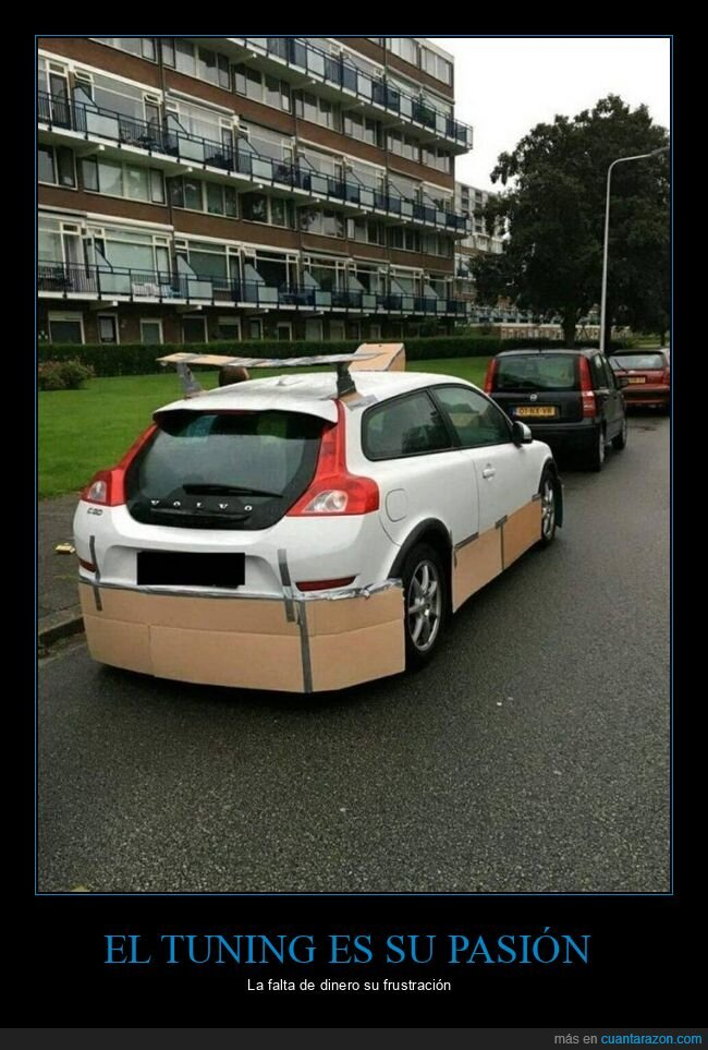 cartón,coche,cutre,tuning,wtf