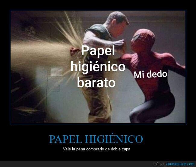 barato,dedo,hombre de arena,papel higiénico,spiderman