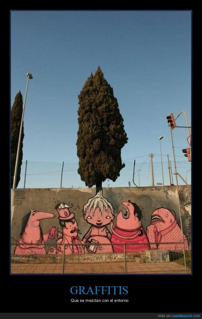 árbol,arte callejero,graffiti