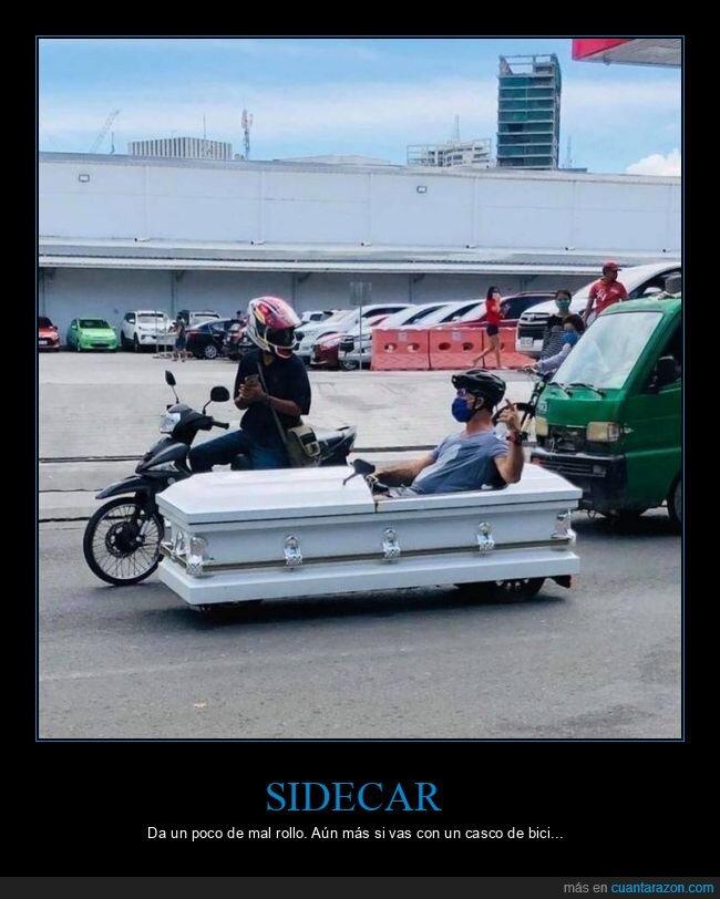 ataúd,moto,sidecar