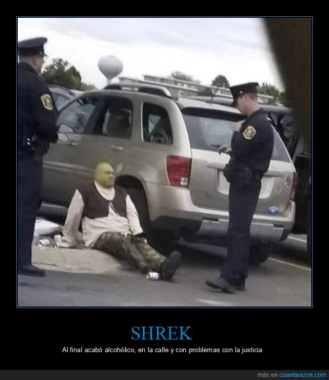 disfraz,policía,shrek,wtf