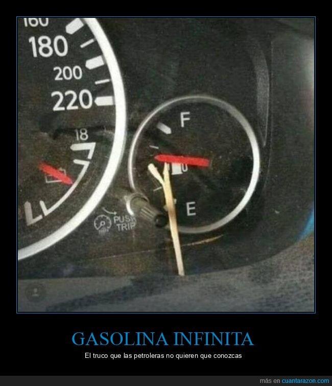 gasolina,palillo,truco