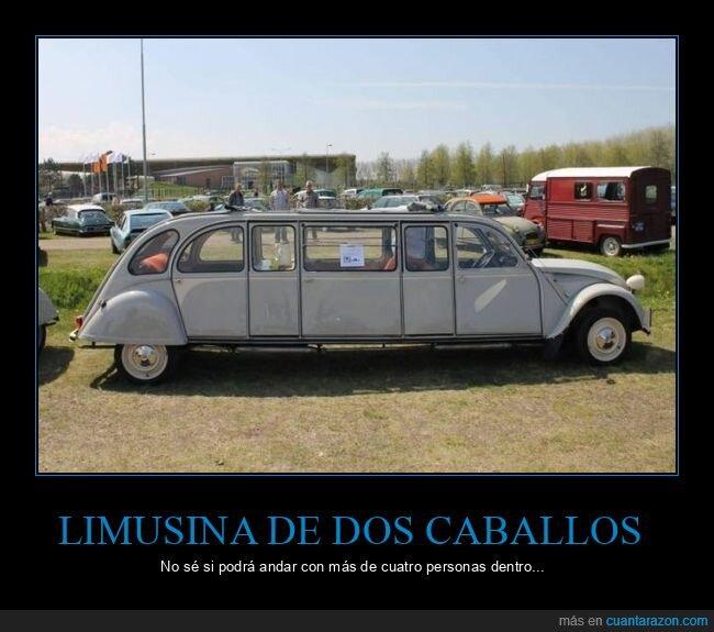 coche,dos caballos,limusina,wtf