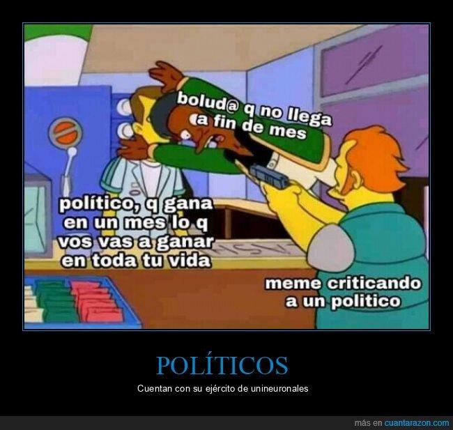 criticar,defender,políticos