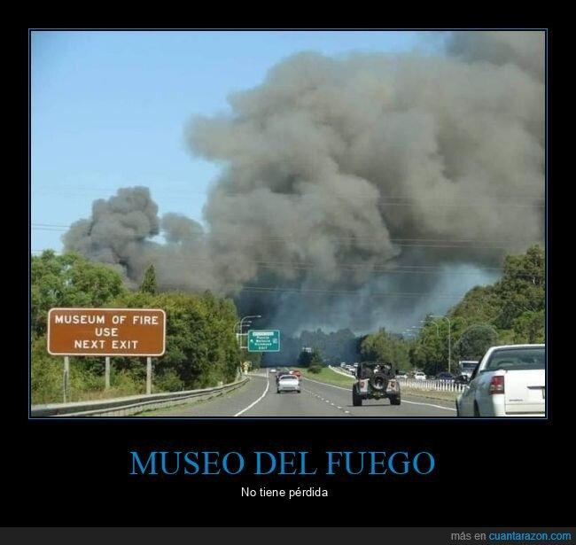 fuego,humo,incendio,museo