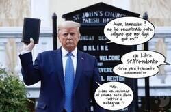 Enlace a Donald Trump está confuso