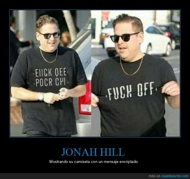 camiseta,jonah hill,mensaje encriptado