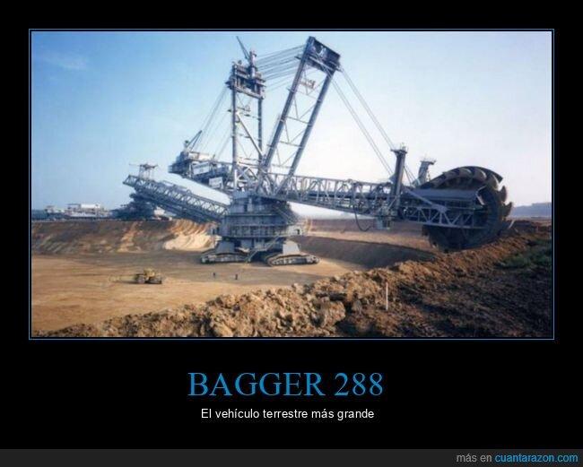 bagger 288,gigante,vehículo