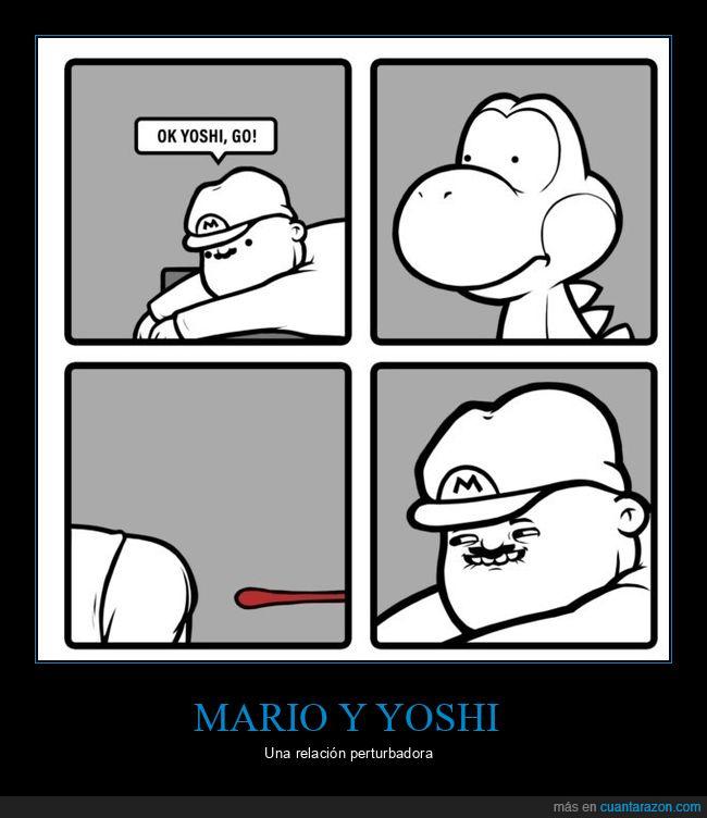 lengua,mario,yoshi