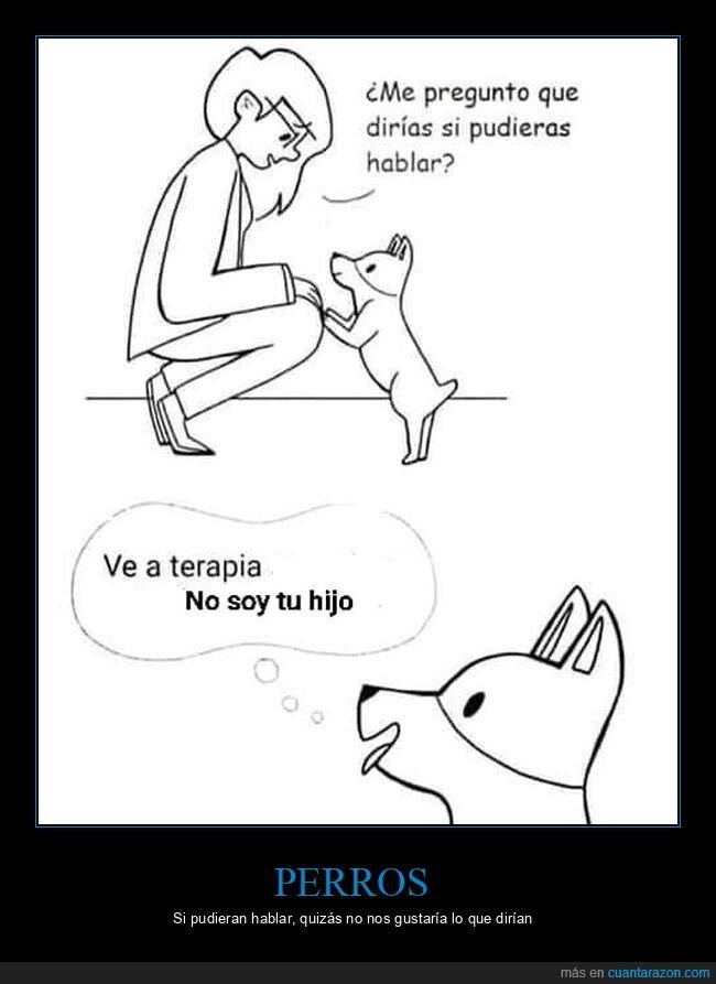 decir,hablar,hijo,perro,terapia