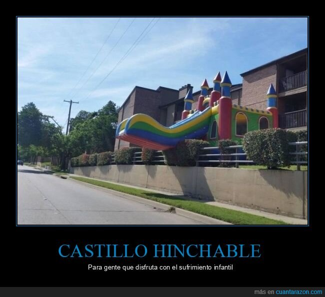 castillo hinchable,fail,tobogán