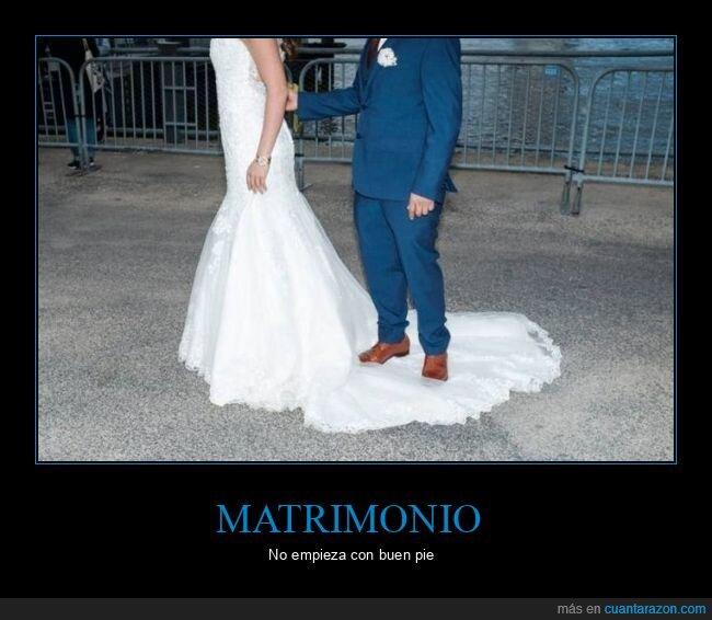 boda,fails,pisando,vestido