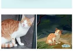 """Enlace a La gente envía fotos de sus mascotas a esta artista para que las """"disneyfique"""""""