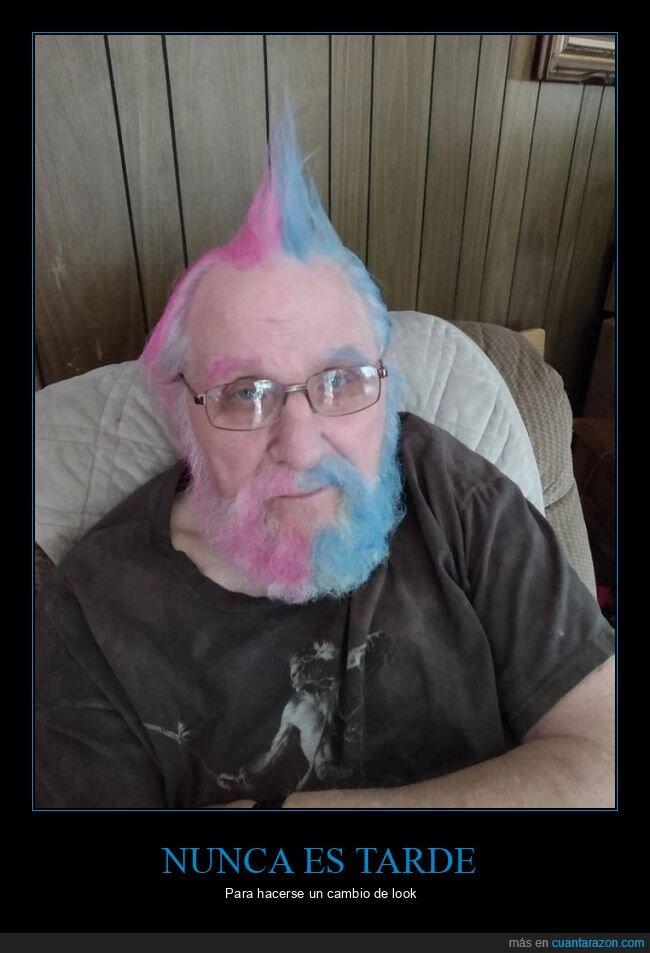 abuelo,color,pelo,wtf