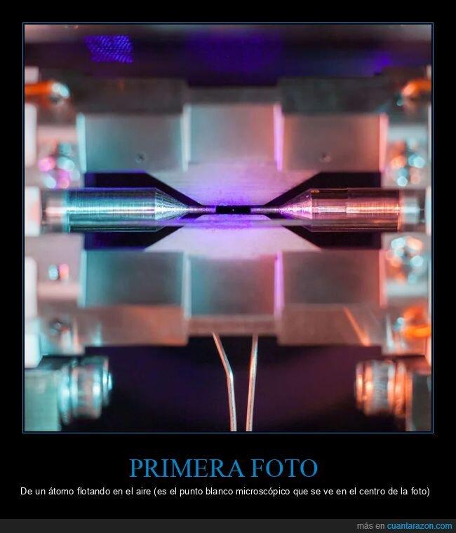 átomo,flotando,primera foto
