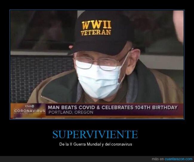 104 años,coronavirus,ii guerra mundial,veterano