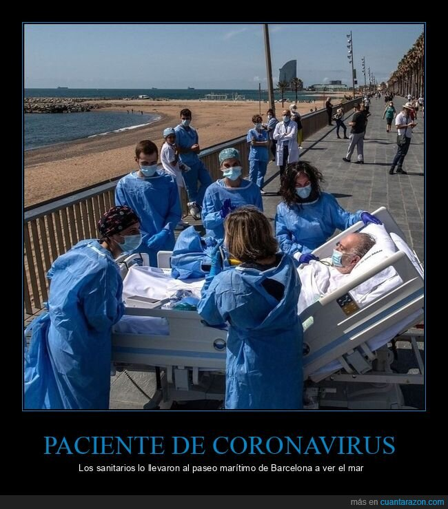 barcelona mar,coronavirus,paciente,paseo marítimo