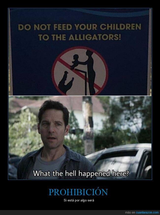 cartel,cocodrilos,niños,prohibición,wtf